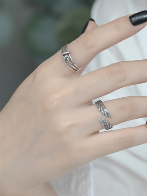 ARTTI 925 Sterling Silver Wing Vintage Band Ring 1