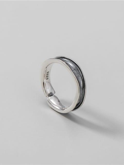 Wave ring 925 Sterling Silver Irregular Vintage Band Ring