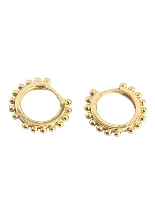 ACE 925 Sterling Silver Geometric Minimalist Huggie Earring 0