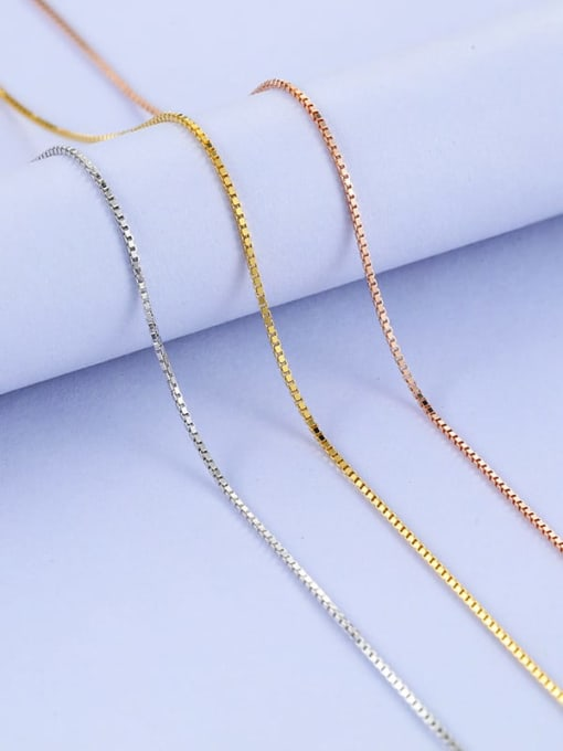 Supply 925 Sterling Silver lengthen Box Chain 1