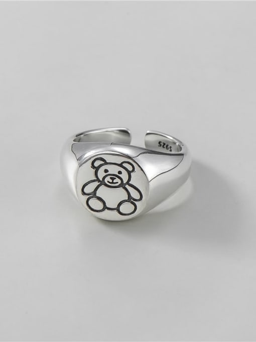 ARTTI 925 Sterling Silver Bear Vintage Band Ring 2
