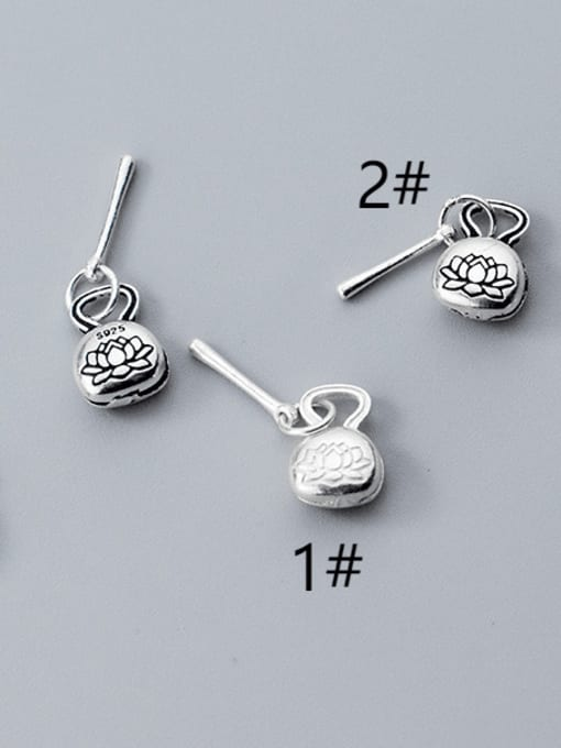 FAN 925 Sterling Silver Flower Charm 0