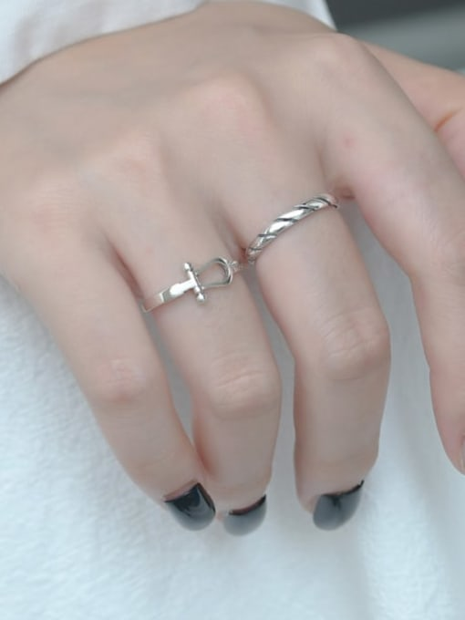 ARTTI 925 Sterling Silver Round Vintage Band Ring 1