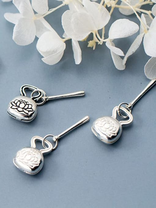 FAN 925 Sterling Silver Flower Charm 1