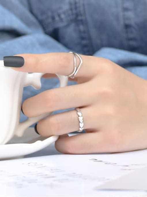 ARTTI 925 Sterling Silver Heart Vintage Band Ring 2