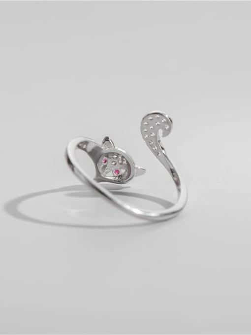 ARTTI 925 Sterling Silver Cubic Zirconia Fox Cute Band Ring 1