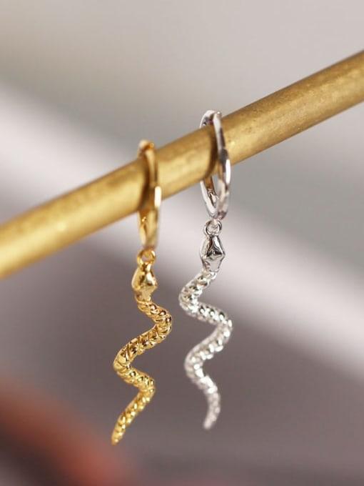 ACE 925 Sterling Silver Snake Ethnic Stud Earring 1