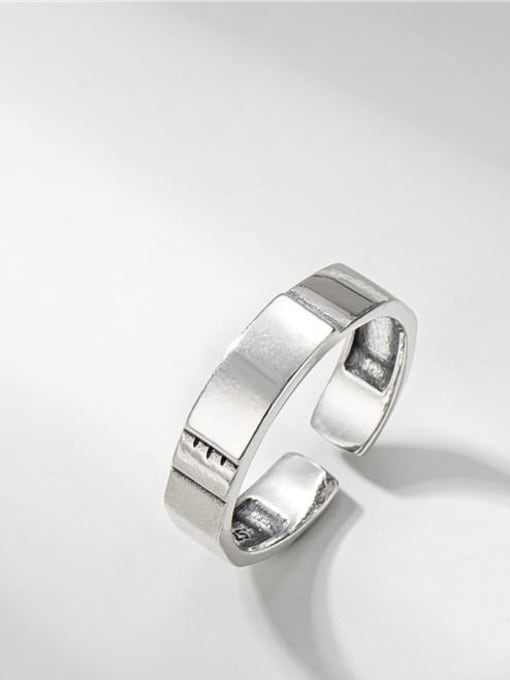 Smooth ring 925 Sterling Silver Geometric Vintage Band Ring