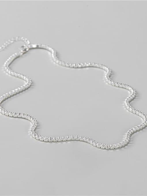ARTTI 925 Sterling Silver Cubic Zirconia Geometric Minimalist Necklace 1
