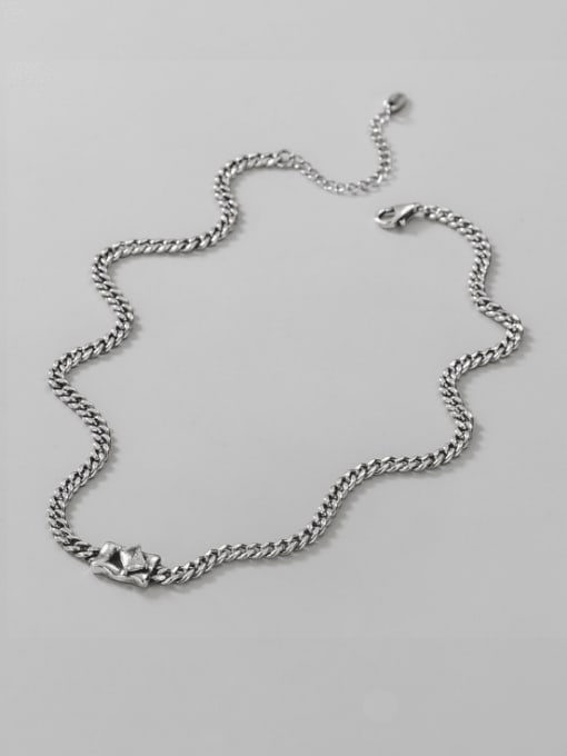 ARTTI 925 Sterling Silver Cubic Zirconia Geometric Vintage Necklace