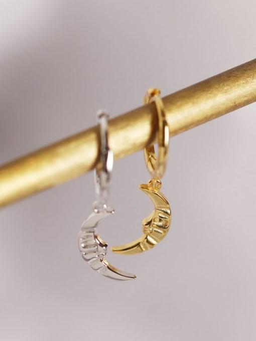 ACE 925 Sterling Silver Moon Trend Huggie Earring 1