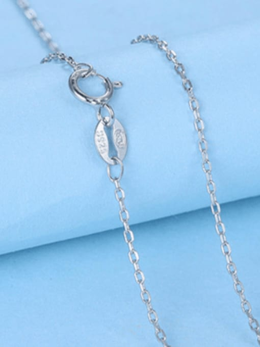 1.1mm#Cable#45cm 925 Sterling Silver Chains
