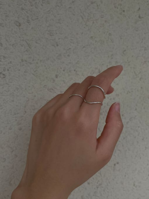 ARTTI 925 Sterling Silver Round Minimalist Band Ring 2