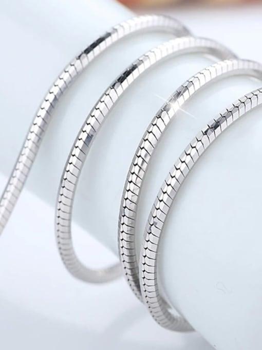 Supply 925 Sterling Silver Snake Chain For Men 2