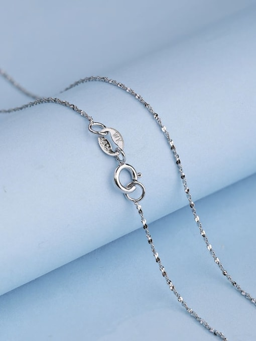 Supply 925 Sterling Silver Twisted Serpentine Chain 1
