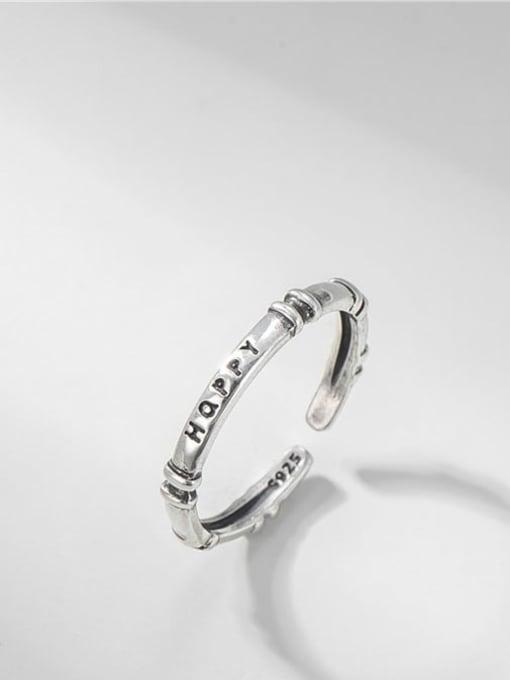 Slub English ring 925 Sterling Silver Twist  Round Minimalist Band Ring