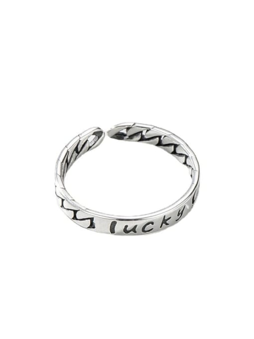 ARTTI 925 Sterling Silver Letter Vintage Band Ring 4
