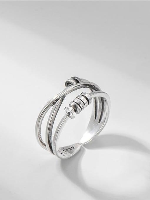 ARTTI 925 Sterling Silver Irregular Vintage Stackable Ring 0