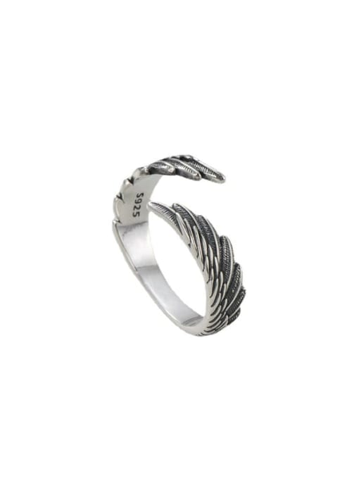 ARTTI 925 Sterling Silver Wing Vintage Band Ring 3