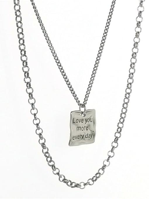 ARTTI 925 Sterling Silver Bead Geometric Vintage Multi Strand Necklace 3