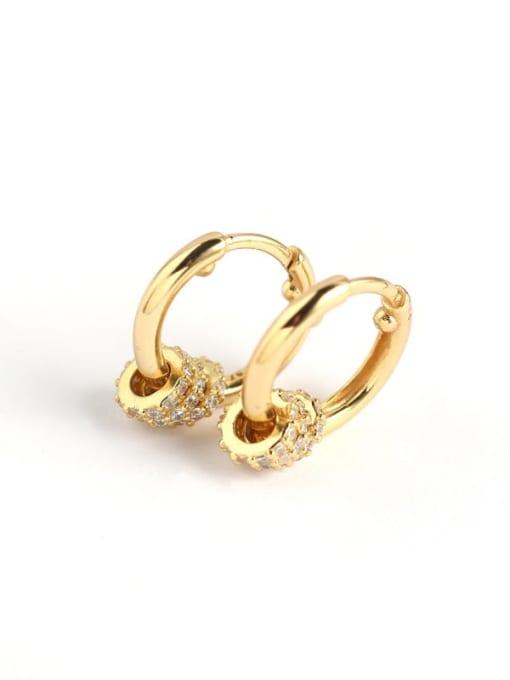 ACE 925 Sterling Silver Rhinestone White Geometric Luxury Huggie Earring 2
