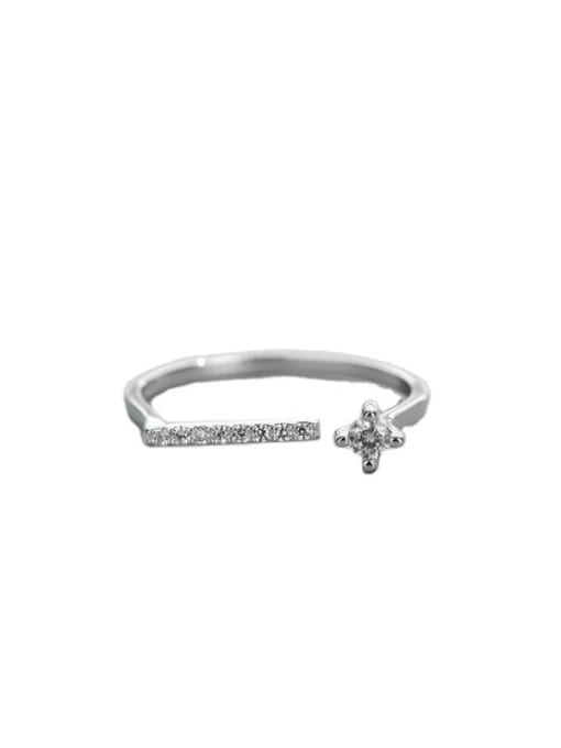 ARTTI 925 Sterling Silver Cubic Zirconia Geometric Vintage Band Ring 4