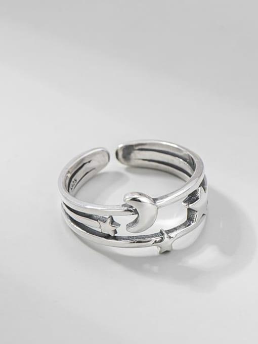 ARTTI 925 Sterling Silver Irregular Vintage Band Ring 0