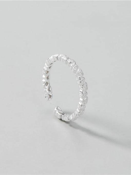 ARTTI 925 Sterling Silver Heart Minimalist Band Ring 2