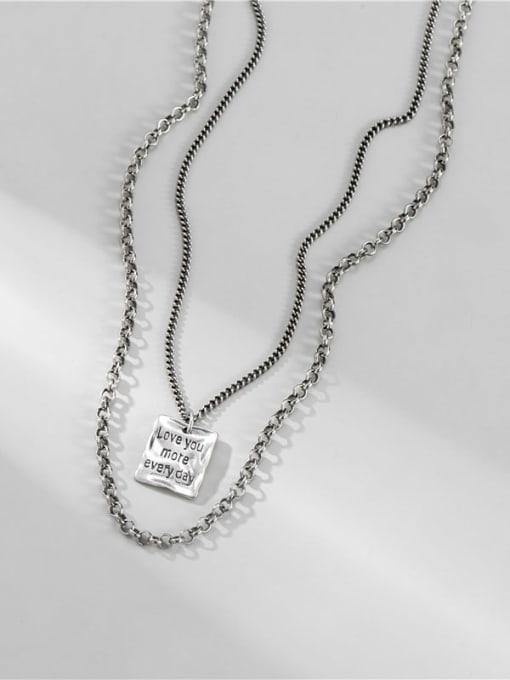 ARTTI 925 Sterling Silver Bead Geometric Vintage Multi Strand Necklace 0