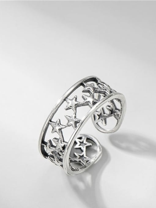 Star Ring 925 Sterling Silver Star Vintage Band Ring