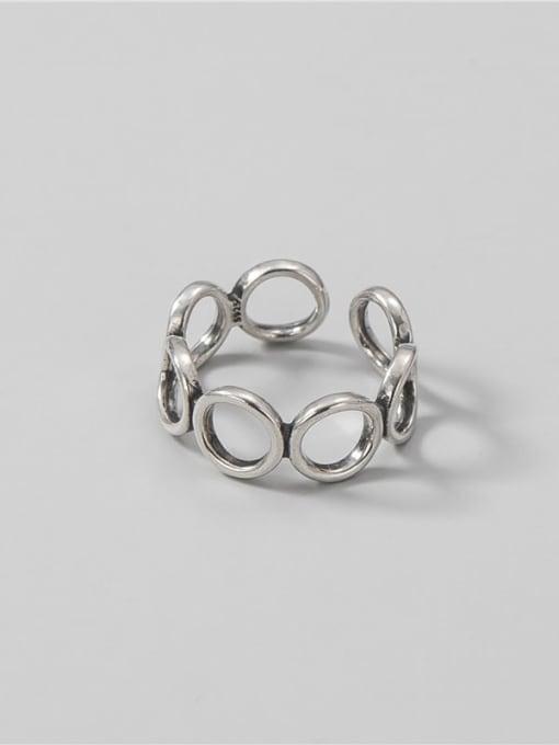 ARTTI 925 Sterling Silver Geometric Minimalist Band Ring 2