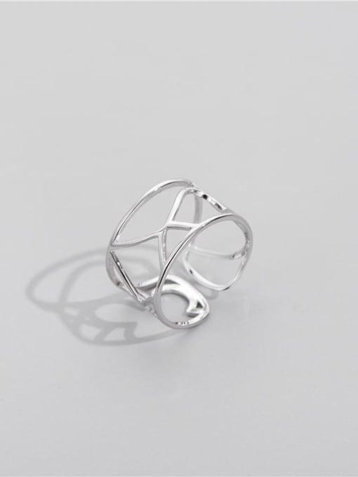 ARTTI 925 Sterling Silver Geometric Minimalist Stackable Ring 3