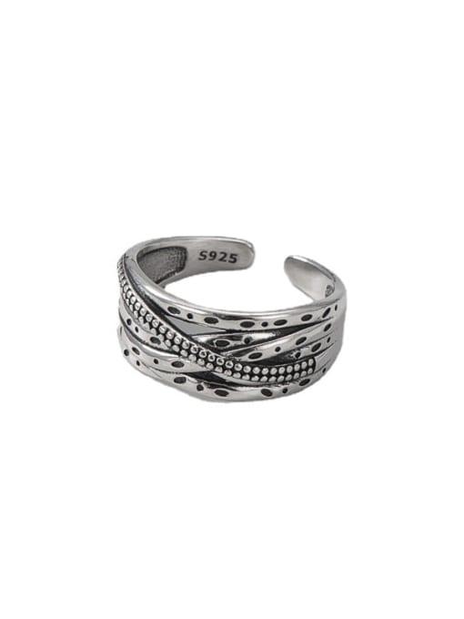 ARTTI 925 Sterling Silver Irregular Vintage Stackable Ring 3
