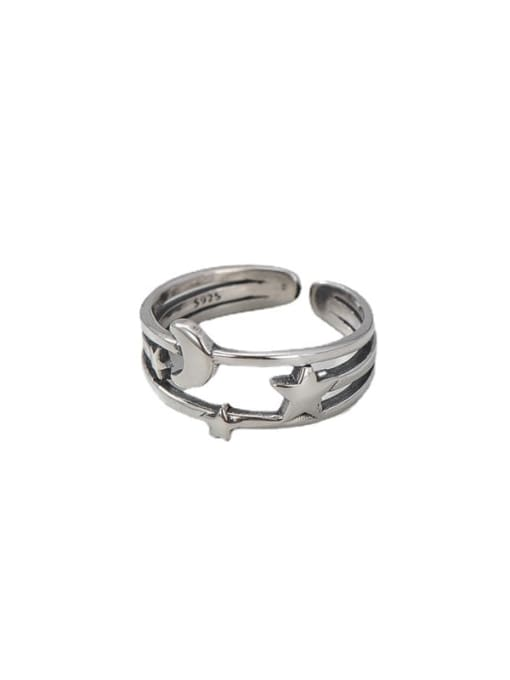 ARTTI 925 Sterling Silver Irregular Vintage Band Ring 4