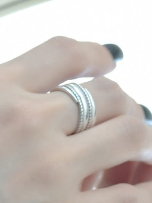ARTTI 925 Sterling Silver Geometric Vintage Stackable Ring 3