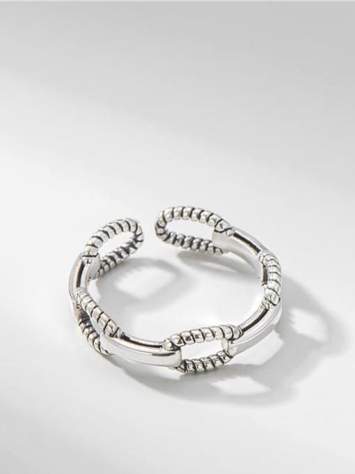 Twist ring 925 Sterling SilverHollow Irregular Vintage Band Ring
