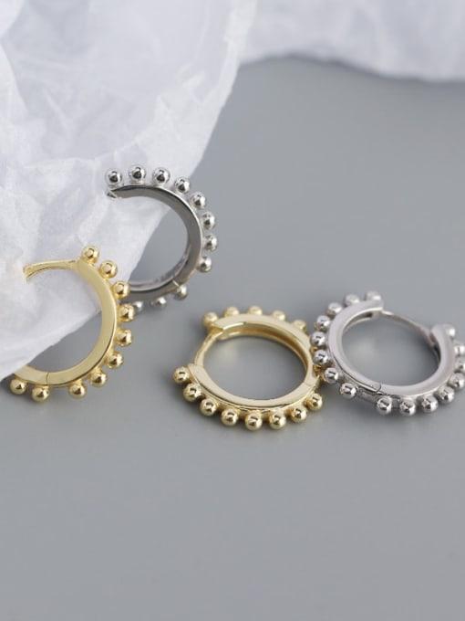 ACE 925 Sterling Silver Geometric Minimalist Huggie Earring 3