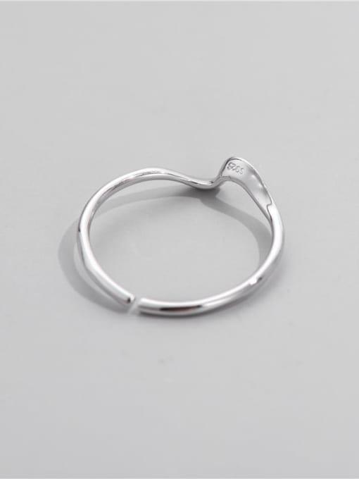ARTTI 925 Sterling Silver Irregular Minimalist Band Ring 2