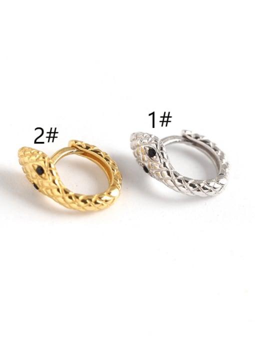ACE 925 Sterling Silver Snake Trend Huggie Earring 2