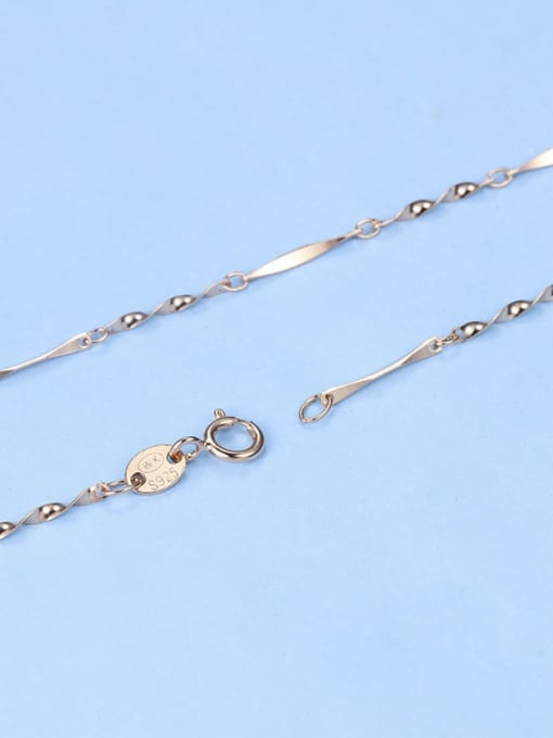 Supply 925 Sterling Silver Lengthen Twisted Chain 4