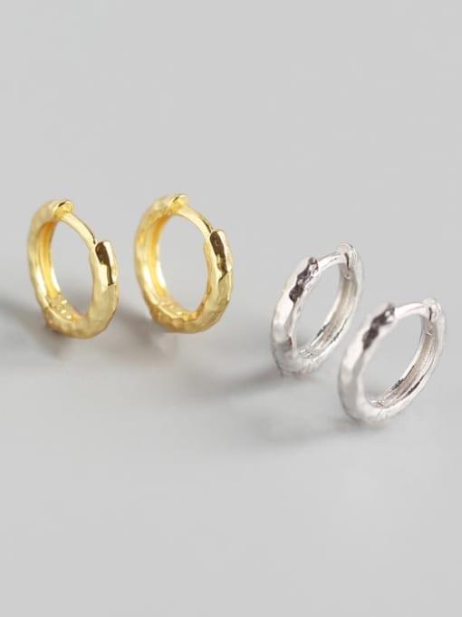 ACE 925 Sterling Silver Geometric Luxury Huggie Earring