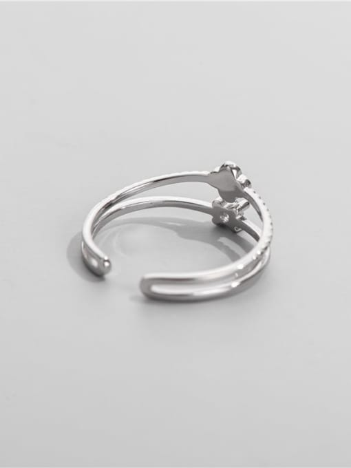 ARTTI 925 Sterling Silver Enamel Clover Minimalist Stackable Ring 1