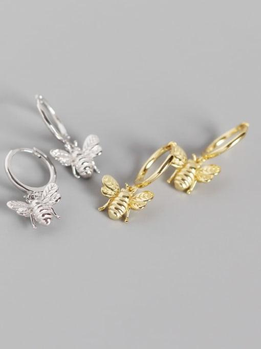 ACE 925 Sterling Silver Bug Cute Huggie Earring