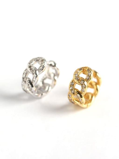 ACE 925 Sterling Silver Cubic Zirconia Geometric Vintage Huggie Earring 4