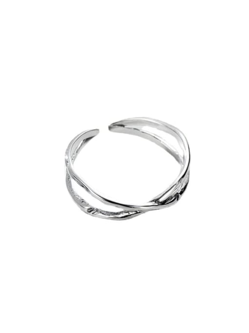 ARTTI 925 Sterling Silver Cross Vintage Band Ring 3