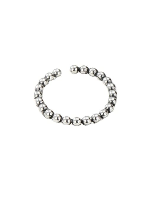 ARTTI 925 Sterling Silver Bead Round Vintage Band Ring 3
