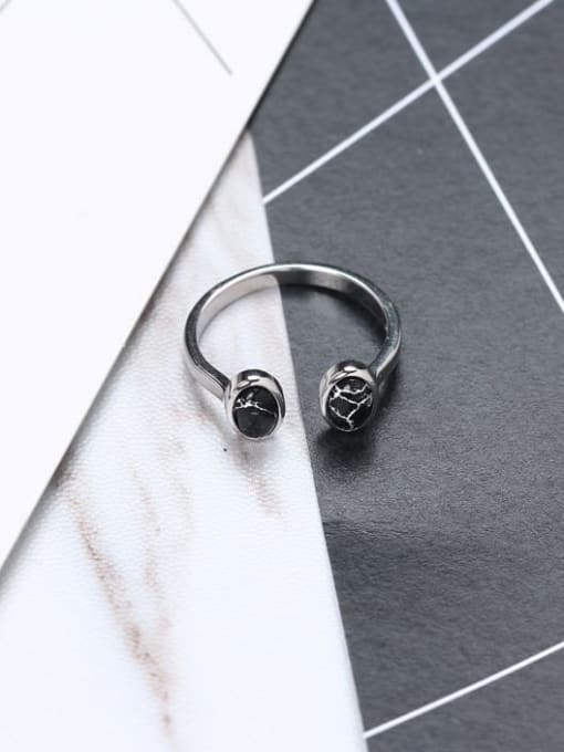 ACE 925 Sterling Silver White Round Minimalist Multistone Ring 2