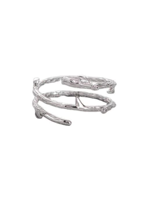 ARTTI 925 Sterling Silver Irregular Minimalist Stackable Ring 2