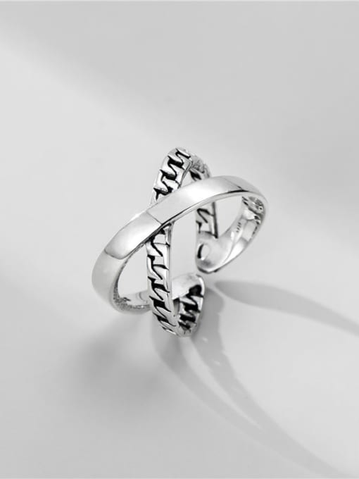 Cross Ring 925 Sterling Silver Cross Vintage Stackable Ring