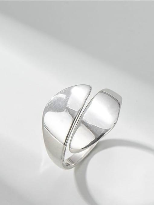 ARTTI 925 Sterling Silver Irregular Minimalist Band Ring 0